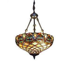 Details About Tiffany 2 Light Baroque Bronze Hanging Pendant Lamp