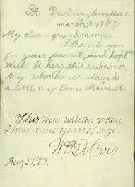 best w e b dubois images black history black  a note from w e b dubois at age nine to his grandmother sarah burghardt