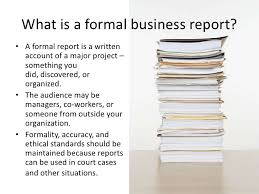 Formal Reports 1