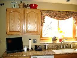 kitchen window treatment ideas country curtains with maple treatments interior