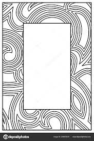 frame border design template black white decorative vector border white stock vector