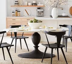 chapman oval marble pedestal dining