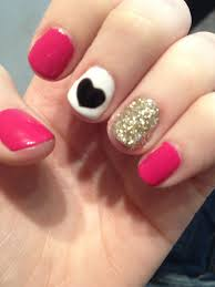 Girly Nail Designs For Short Nails Super Easy Nail Art Even For Short Nails So Cute Pink