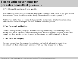 4 tips to write cover letter for pre sales consultant cover letter sales consultant