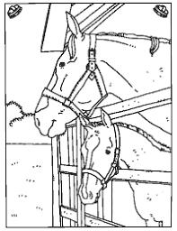 Paarden In De Stal Spring Blast Paard Knutselen Kleurboek En