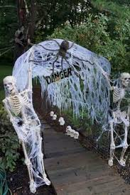 Child friendly halloween lighting inmyinterior outdoor Stunning Diy Haunted Trail Ideas New Cheese Cloth And Webbing u2026 Pinterest Diy Halloween Videos Do It Yourself
