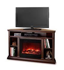 churchill corner vent free electric fireplace and media stand espresso