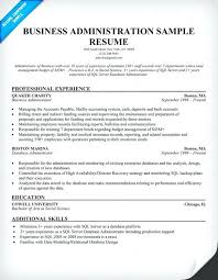 business admin resume business administration resume admin resume business administration