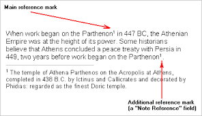atlantis word processor help footnotes and endnotes note reference