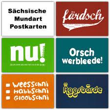 Sächsische Mundart Postkarten Freche Und Lustige Sprüche