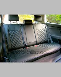 rear seats with diamond quilted seat covers fitted
