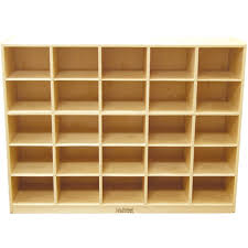 Wood Cubby Storage - 25 Compartments
