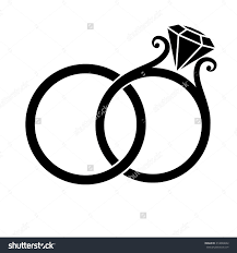 Rings Free Wedding Clipart Borders Drawing Wedding Rings