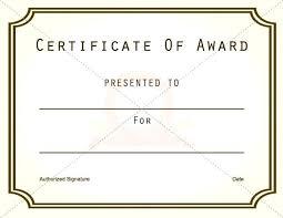 Award Certificates Templates Award Certificate Template Award