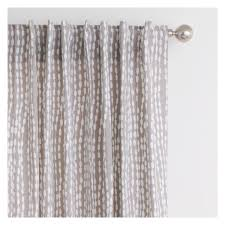 trene pair of grey patterned curtains 145 x 230cm