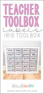 Teacher Toolbox Labels Pastel 24 Drawer Teacher Toolbox