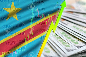 Democratic Republic Of The Congo Flag And Chart Growing Us Dollar