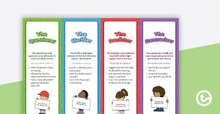 Reciprocal Teaching Role Bookmarks Teaching Resource – Teach Starter