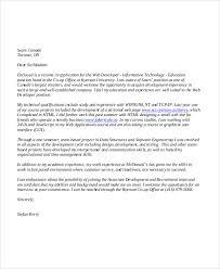 Recommendation Letter For Programmer Web Developer Cover Letter 8 Examples In Word Pdf
