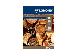 <b>Lomond Self</b>-<b>Adhesive</b> Gold <b>Film</b> А4, 190 г/м2, 25 листов (1703471 ...