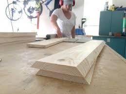 diy trestle entry table sawdust 2