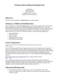 Customer Service Resume Examples Sample Resumes