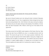 Rental Letter Template Rent Free Letter Template Rental Agreement Lease Sample