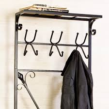 Metal Entryway Storage Bench With Coat Rack Entryway Storage Bench with Coat Rack Black Metal Home Improvement 29