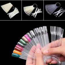 Details About 50pcs Nail Polish Display Nail Art Palette Color Chart W Ring Clear White Dt69