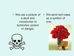 symbolism in literature ppt  we use a picture of a skull and crossbones to symbolize poison or danger