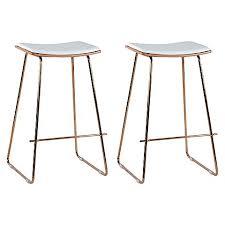 replica yvonne potter y bar stool rose goldwhite 70cm set of rose gold bar stools i11
