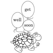 Get Well Soon Card Coloring Pages Color Bros