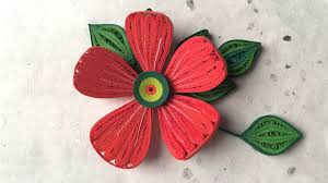 Paper Art Flower How To Make Beautiful Red Flower Design Using Paper Art Quilling