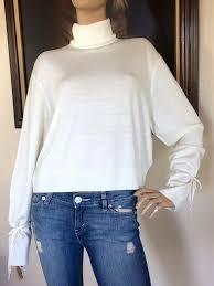 uniqlo jw anderson women white oversize turtleneck sweater nwt size xs