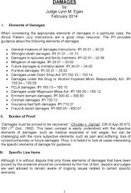 Illinois Pattern Jury Instructions Amazing DAMAGES By Judge Lynn M Egan February PDF