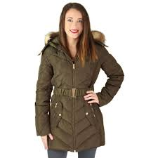 jessica simpson quilted down women s belted long hooded parka jacket coat 0