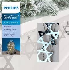 Philips Dewdrop Lights Plug In Amazon Com Philips Hanukkah Metal Star Of David Dew Drop