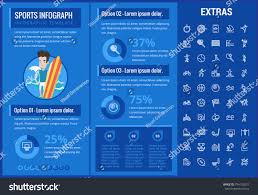 Sports Infographic Template Sports Infographic Template Elements Icons Infograph Stock Vector