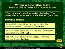 writing workshop writing a descriptive essay assignment prewriting  10 writing