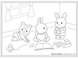 Calico Critters Coloring Pages Pitchgloballymediacom