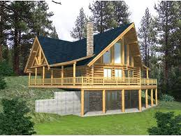 rustic a frame log home great for sloping lot house plans with basements full size