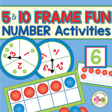 ten frame activity and counting game for pre and kindergarten