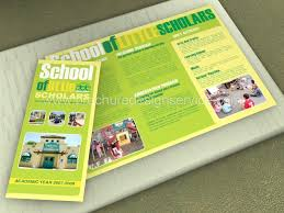 tri fold school brochure template school brochure designs templates samples inspiration