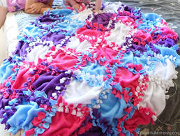 Patchwork No Sew Fleece Blanket Tutorial &  Adamdwight.com