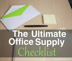 cool handy office supplies. Image Of Office Supplies And The Phrase, Ultimate Supply Checklist Cool Handy A