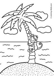 Small Picture cute baby monkey hanging on its tail eating banana coloring page