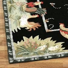 rooster area rugs country throw blankets round