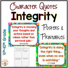 Quotes About Integrity Gorgeous Integrity Quotes Posters And Printables By Kirsten's Kaboodle TpT