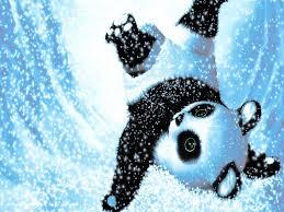 cute cartoon panda toy on a blue background jordans9 wallpaper