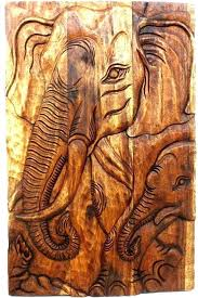 thai wooden wall art decor elephant hand carved wood wallpaper thai inspired wall art